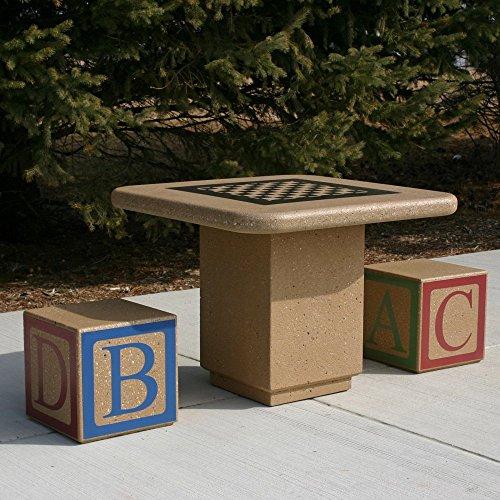 Doty & Sons Concrete Alphabet Block Seat Picnic Table - Seats 2
