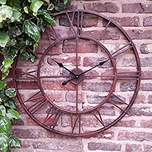 large outdoor garden wall clock giant open face big roman