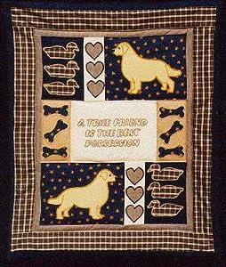 Amazon Com Pegasus Originals Golden Retriever Quilt