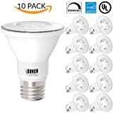 Sunco Lighting 10 PACK - PAR20 LED 7 WATT (50W Equivalent), 2700K Soft White, DIMMABLE- Indoor/Outdoor Lighting, 470 Lumens, Flood Light Bulb- UL LISTED (Color: 2700k - Soft White, Tamaño: 10 Pack)