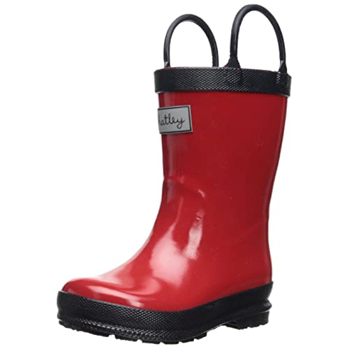 Hatley Little Girls  Rainboots - Red with Navy