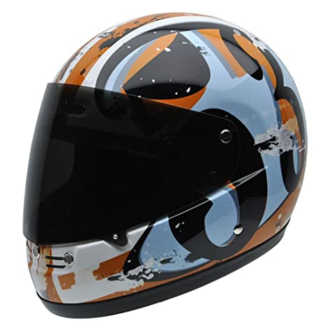 NZI 050262G747 Street Track Graphics Number, Casque de Moto, Taille XL Multicolore