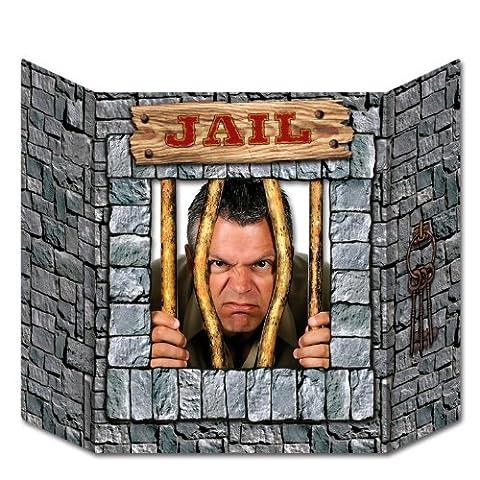 Jail Photo Prop 刑務所の写真プロップ♪ハロウィン♪サイズ: