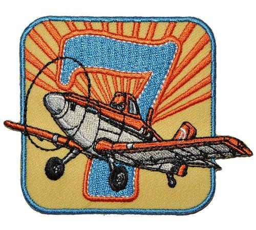 Disney Planes Sprühflugzeug Dusty 8,6 cm * 6,8 cm Bügelbild - Aufnäher Applikation Flugzeug Piper Pawnee