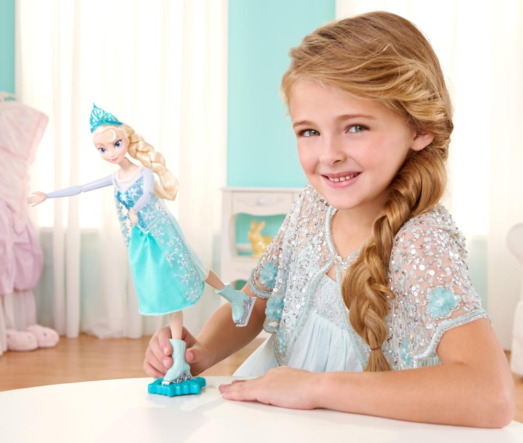 Re-create the magical movie moment when Elsa ice skates to celebrate