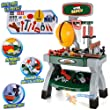 Childrens Work Bench Play Set DIY Builder Construction Toy Tool Kit Hard Hat