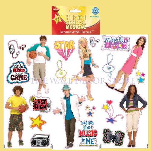 High School Musical Wall Decal Mini Set of 3 Sheets / 21 Appliques