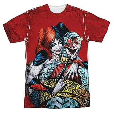 Batman Harley Quinn Crime Scene All Over Print Front T-Shirt