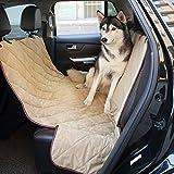 Pawow デラックスな防水のトランクマット ペットシートカバー 車内に汚い 車用、ツアーにいい選択 ベージュ