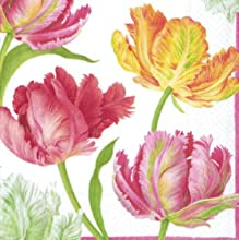Entertaining with Caspari Tulip Dance Luncheon Napkins Pack of 20