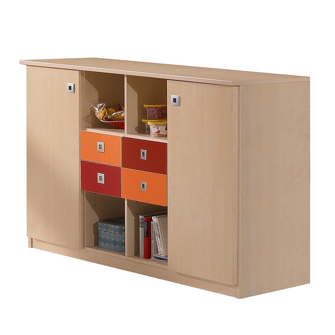 Jugendzimmer Sideboard »DAYLIGHT« Ahorn Dekor- orange – rot online bestellen