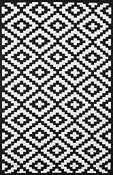 Lightweight Outdoor Reversible Plastic Rug Nirvana Black / White - 150 cm x 240 cm (5ft x 8ft)
