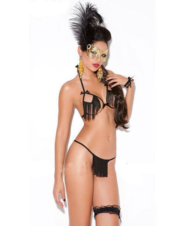 Sexy Nachtwäsche Set Frauen Unterwäsche schwarzen Dessous günstig kaufen