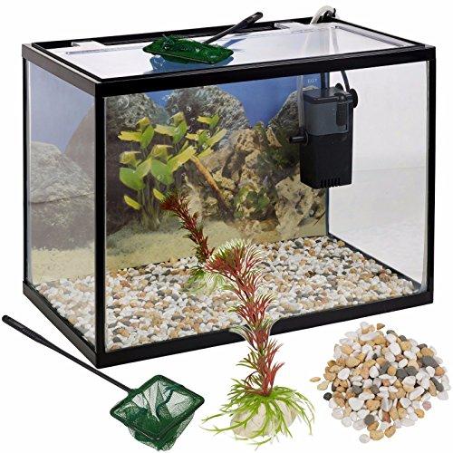 18-litre-glass-aquarium-fish-tank-starter-set-with-filter-pump-net-plant-stones