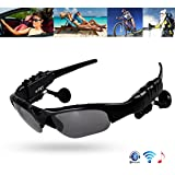 e-TKT Bluetooth Sunglasses Headset Headphone Wireless Music Sunglasses Polarized Lenses Outdoor Stereo Headphones Handsfree Headset for iPhone Samsung