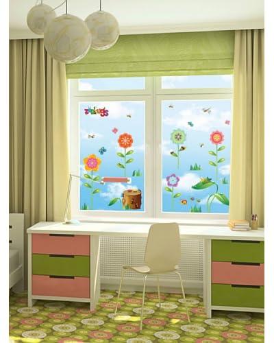 Ambiance Live Vinilo Adhesivo De Flores Y Insectos Para Los Niños