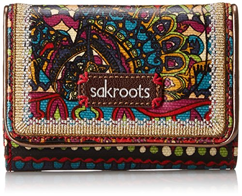Sakroots Artist Circle Small Trifold Wallet, Cherry One World, One Size