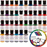 AmeriColor Amerimist Student Kit Air Brush Food Color 36 Pack Kit with (FREE US ART Color Mixing Wheel)