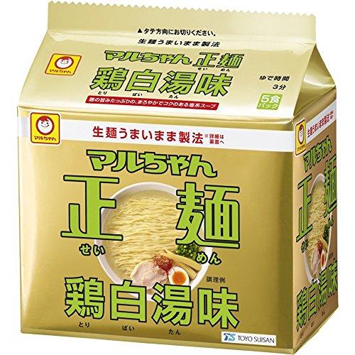 マルちゃん マルちゃん正麺 鶏白湯味 (95g×5P) 475g×6袋