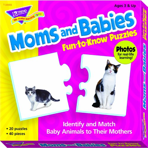 Fun-to-Know® Puzzles: Moms and Babies - 1