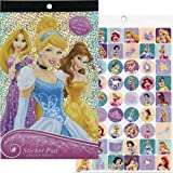 Disney Princess Foil Cover Sticker Pad Over 200 Stickers