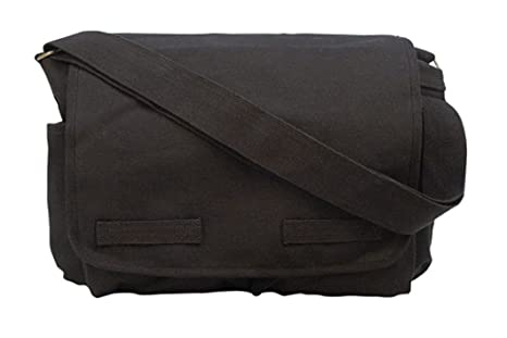 Black Classic Army Messenger Heavy Weight Shoulder Bag 84