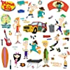 RoomMates RMK1536SCS Phineas and Ferb Peel and Stick Wall Decals