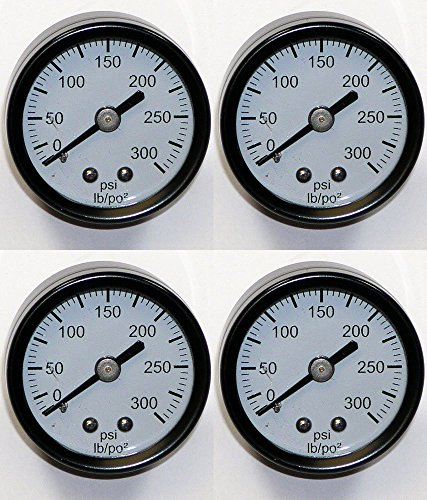 DeWalt D55141 Air Compressor (4 Pack) Replacement Pressure Gauge # A17166-4pk (Parts For Air Compressor Dewalt compare prices)