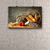 ArtzFolio Still Life With pumpkin, corn and potato in harvest Canvas Art Print without Frame - Size 38.9 inch x 25.1 inch