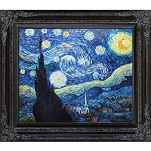 Overstockart starry night framed oil for Framed reproduction oil paintings
