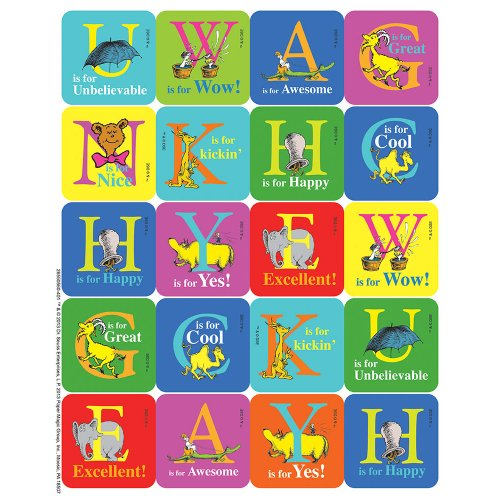 Eureka Dr. Seuss ABC Theme Stickers