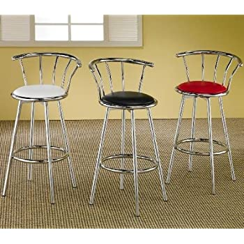 Set of 2 50's Retro Nostalgic Style Black Bar Stools