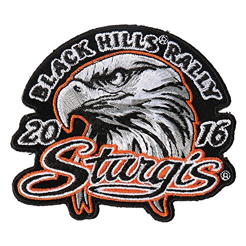 Hot Leather Men's Official 2016 Sturgis Motorcycle Rally Eagle Head Patch