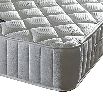 Happy Beds Calming 3000 Pocket Sprung Memory Foam Mattress with Aloe Vera Treated Fabric, White