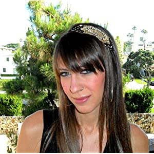Metal Beaded Headband for Women & Travel Bag