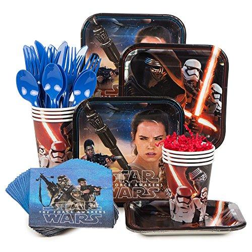 Costume Supercenter BBKIT1051 Star Wars Episode VII The Force Awakens Standard Birthday Tableware Kit Serves