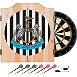 Premier League Newcastle United Dart Cabinet Includes Darts and Board