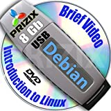 Debian 7 on 8gb USB Flash and Complete 3-disks DVD Installation and Reference Set, 32 and 64-bit