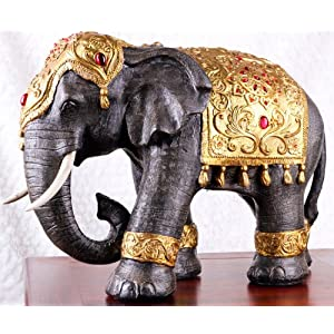 Large thai style elephant figurine zen home decoration for Decoration elephant