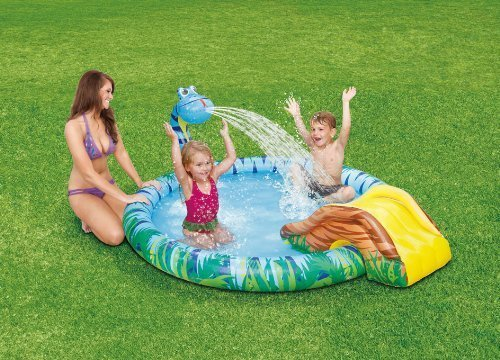 Snake Sprinkler & Slide Childrens Play Center Inflatable Swimming Pool 77