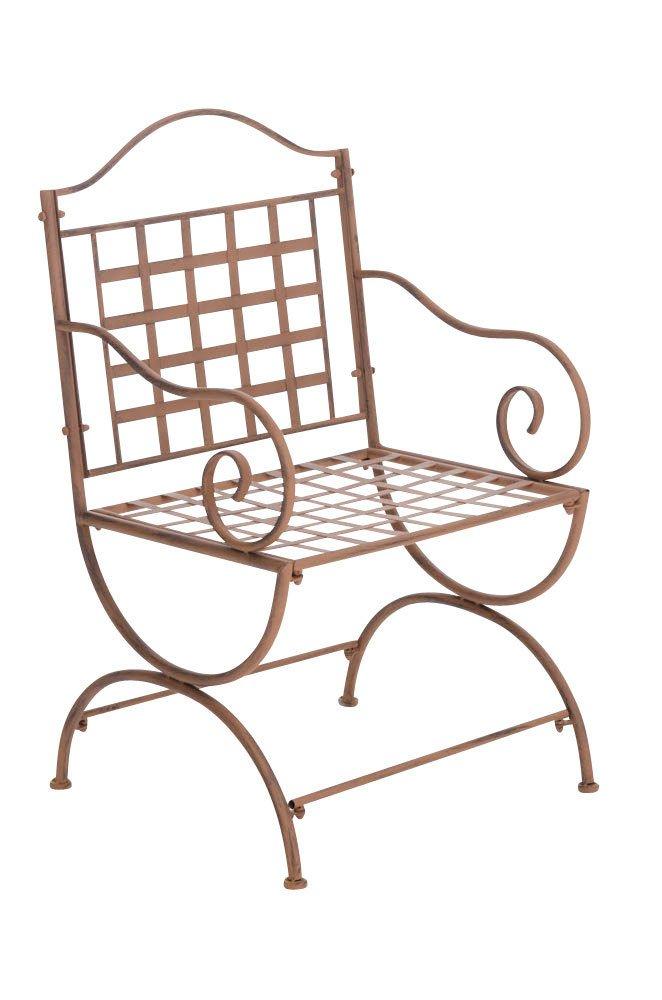 CLP nostalgischer Stuhl LOTTA aus Eisen (aus bis zu 6 Farben wählen) antik-braun