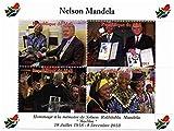 Nelson Mandela sellos conmemorativos para coleccionistas - Celebración de la vida y la muerte del primer presidente negro de Sudáfrica con el presidente Bill Clinton - Mint NH - condiciones Superb - 2013 / Mali / 750F