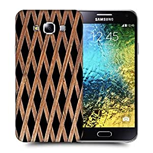 Snoogg Wood Cage Printed Protective Phone Back Case Cover ForSamsung Galaxy E5