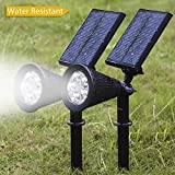 Albrillo-5-LED-Solar-Powered-Spotlight-Landscape-Lights-Outdoor-Waterproof-Wall-Security-Sensor-Lighting-for-Patio-Garden-Lawn-2-Pack