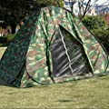 Ezyotudoor 79''x79''x58'' Shack Instant Pop Up Family Beach Tent and Sun Shelter Cabin Dome Tent
