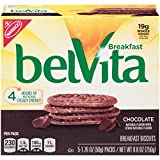belVita Chocolate Breakfast Biscuits, 5 Count Box, 8.8 Ounce (Pack of 6)
