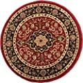 Noble Medallion Red Black Persian Floral Oriental Formal Traditional Area Rug Easy to Clean Stain / Fade Resistant Shed Free Modern Contemporary Transitional Soft Living Dining Room Rug