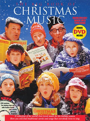 Big Book of Christmas Music with Yule Log DVD: P/V/G Songbook