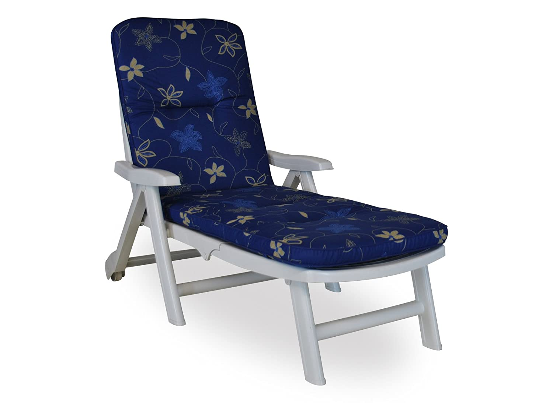 Angerer Exklusiv Liegenpolster Korfu, Blau, 60 x 190 cm günstig online kaufen