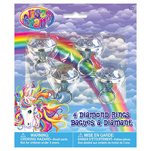 Rainbow Majesty by Lisa Frank Diamond Ring Party Favors, 4ct